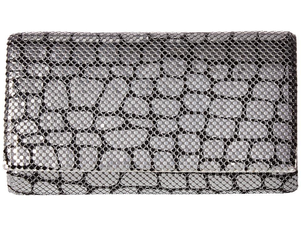 Jessica McClintock - Cassie Animal Print Mesh Clutch (Silver) Clutch Handbags