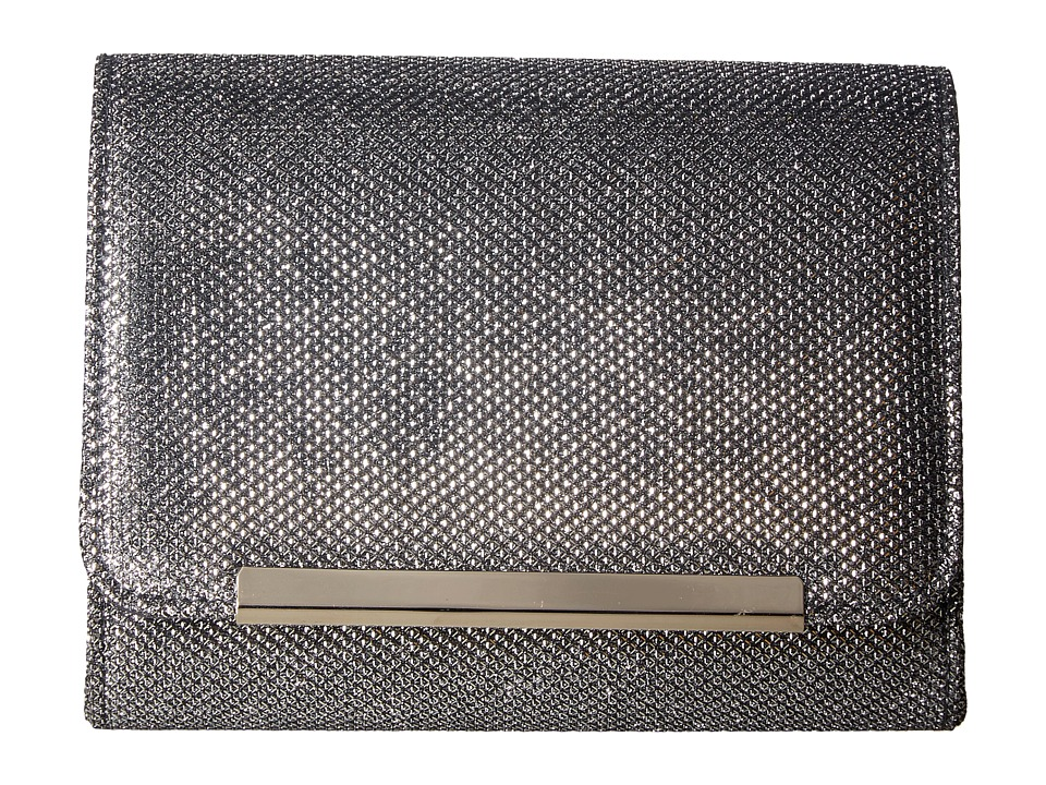 Jessica McClintock - Katie Lurex Clutch (Pewter) Clutch Handbags