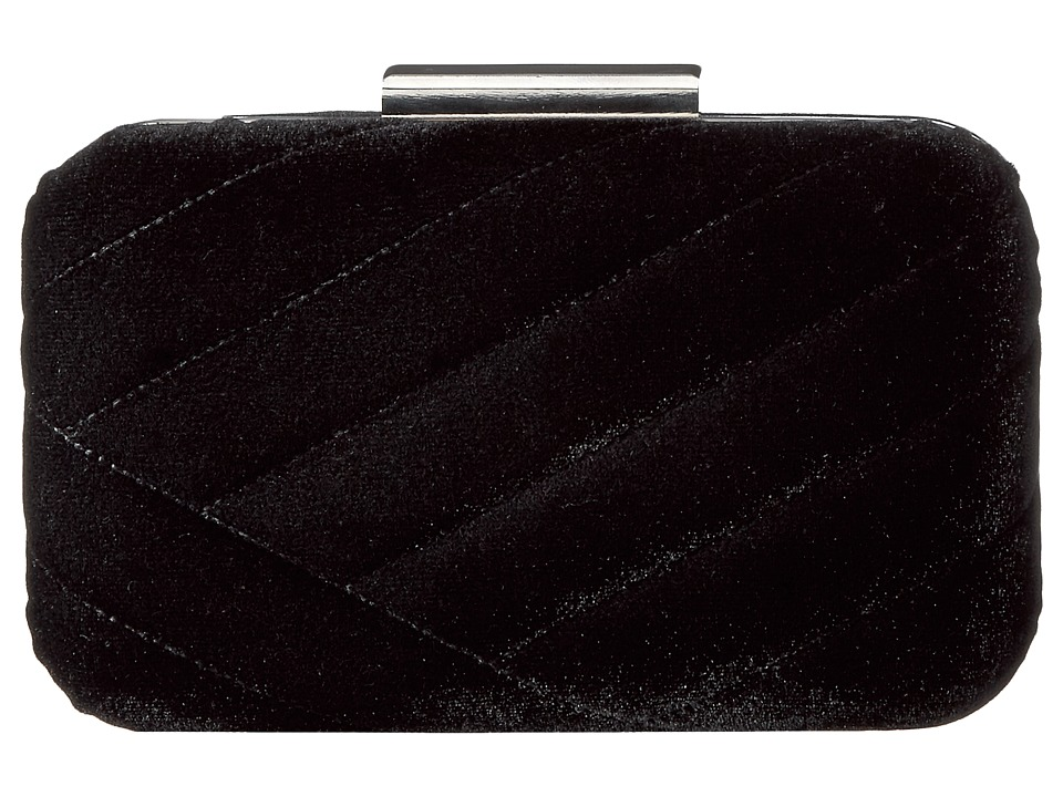 Jessica McClintock - Ashlyn Velvet Clutch (Black) Clutch Handbags
