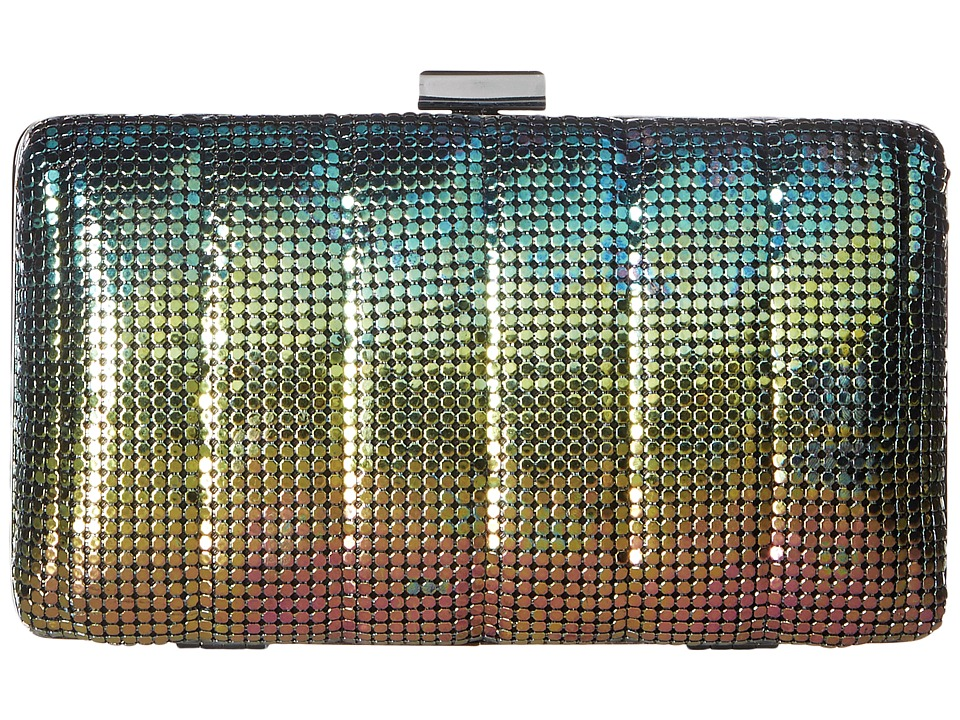 Jessica McClintock - Noelle Quilted Mesh Clutch (Peacock) Clutch Handbags