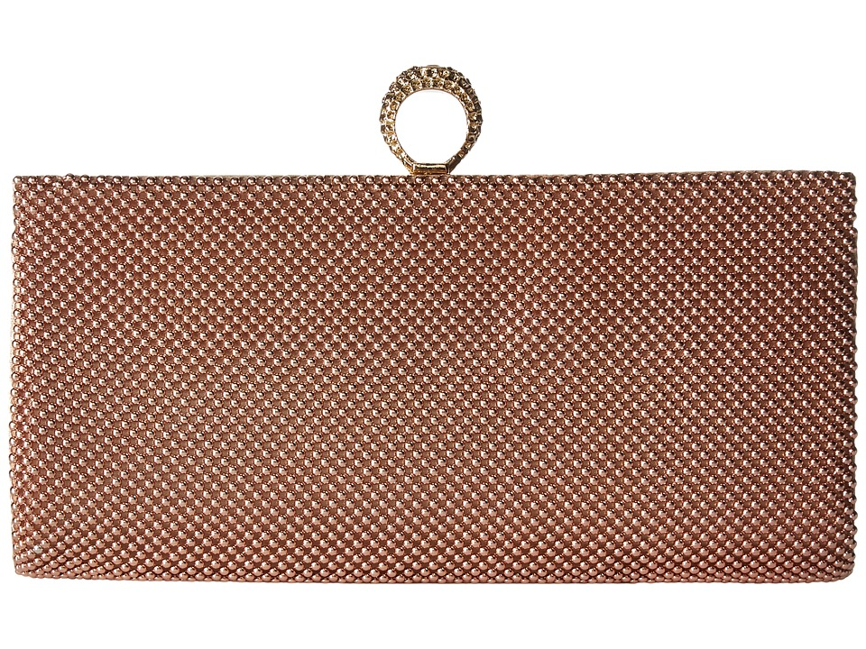 Jessica McClintock - Bailey Mesh Ring Clutch (Blush) Clutch Handbags