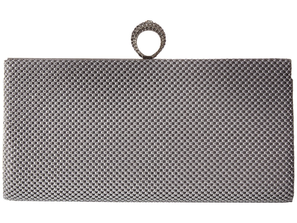 Jessica McClintock - Bailey Mesh Ring Clutch (Silver) Clutch Handbags
