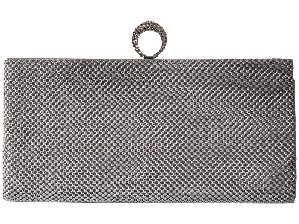 Jessica McClintock - Bailey Mesh Ring Clutch (Silver) Clutch Handbags