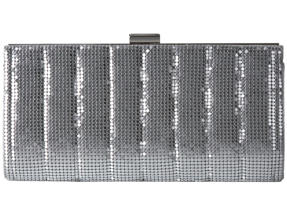 Jessica McClintock - Bailey Quilted Framed Clutch (Silver) Clutch Handbags