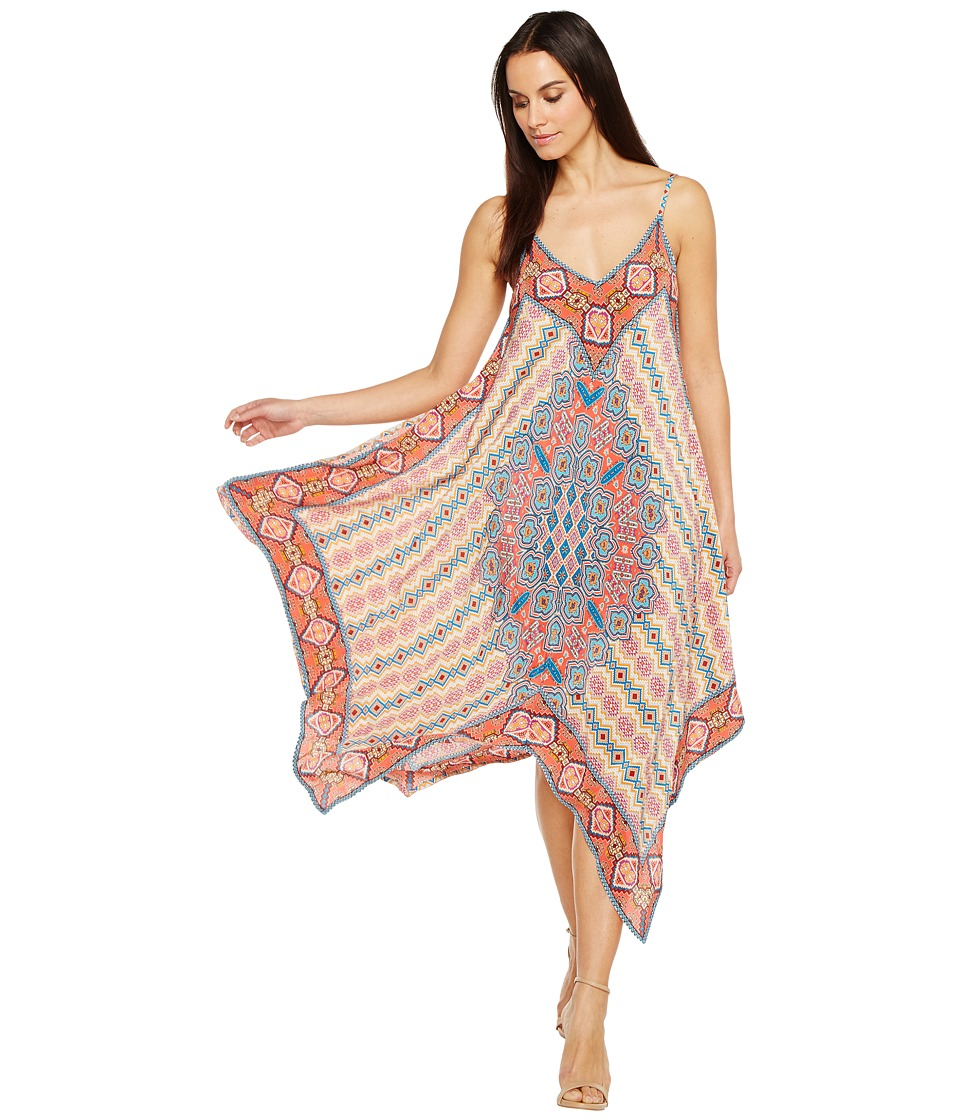Tolani Drew Handkerchief Maxi Dress (Flamingo) Women