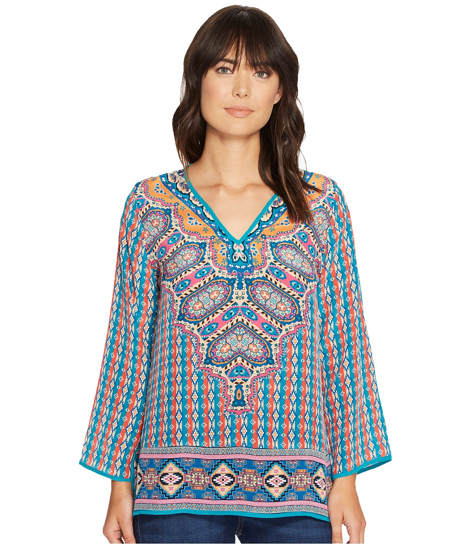 Tolani - Monisha Blouse (Teal) Women's Blouse