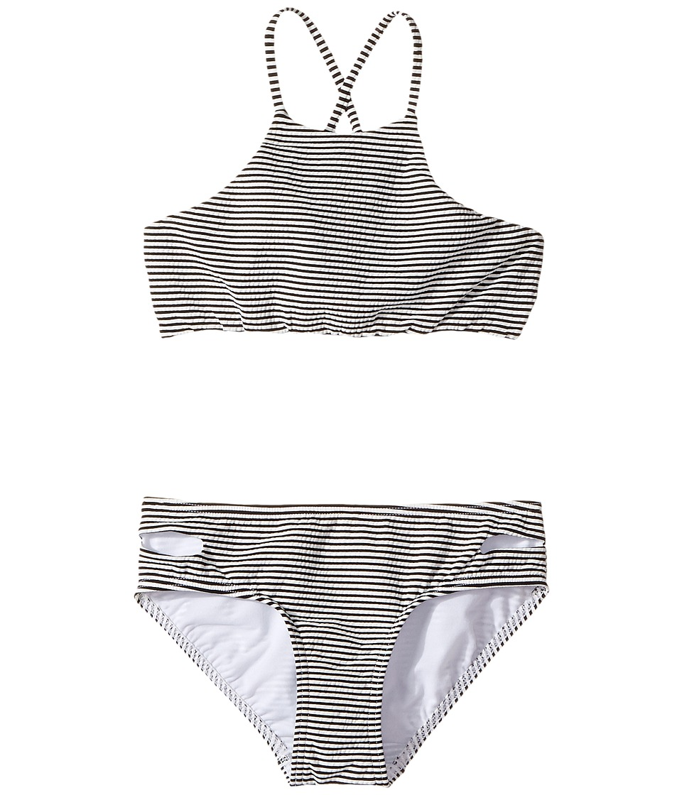 Seafolly Kids - Riviera Belle Stripe Tankini Set (Little Kids/Big Kids) (Black) Girl's Swimwear Sets