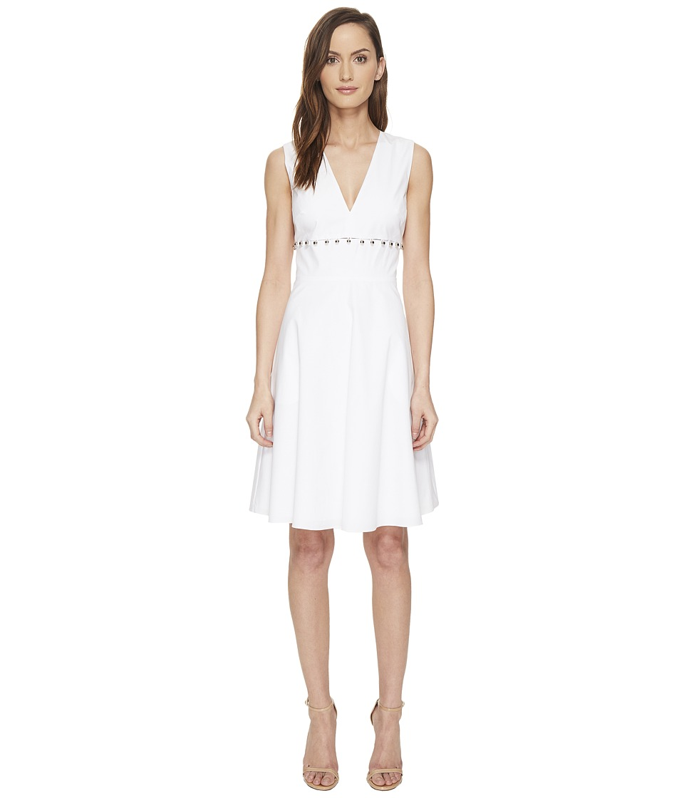 Prabal Gurung - Cotton Poplin Fit Flare Dress (White) Women's Dress