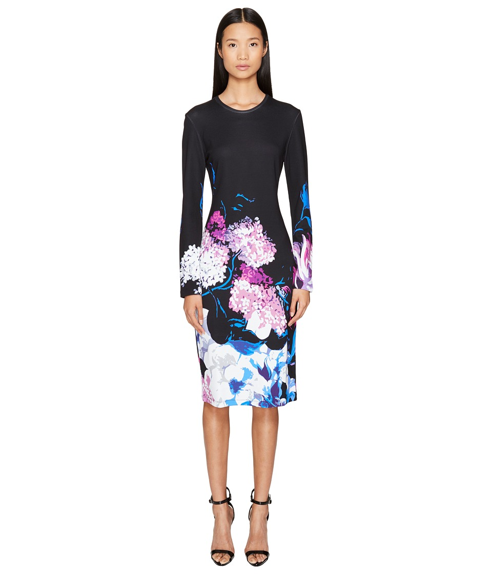 Prabal Gurung Printed Viscose Long Sleeve Knit Dress