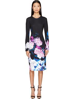 printed-viscose-long-sleeve-knit-dress by prabal-gurung