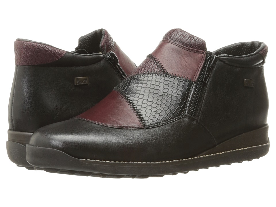 Rieker - 44293 (Schwarz/Medoc/Bordeaux) Women's Shoes