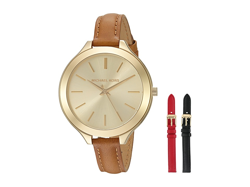 Michael Kors - MK2606 - Slim Runway Interchangeable Gift Set (Gold/Tan/Black/Red) Watches