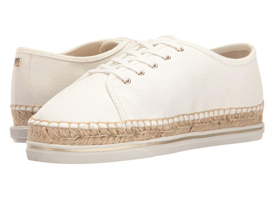 Ivanka Trump Nallis White Fabric-10oz Canvas Lace up casual Shoes
