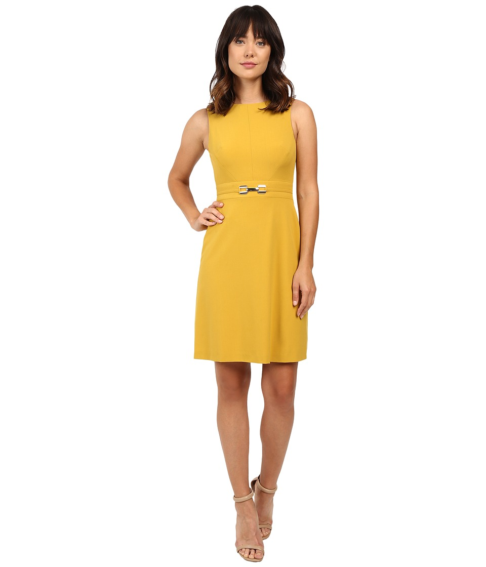 Tahari by ASL - A-line Dress w/ Hardware (Goldenrod) Women's Dress