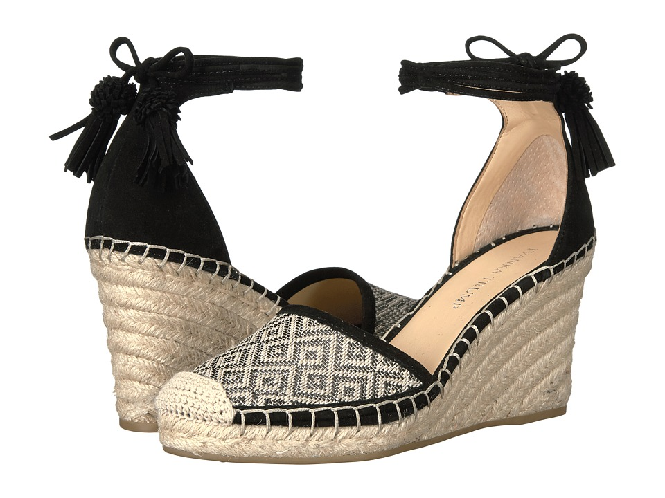 Ivanka Trump - Wadia3 (Black Multi IP Rolitas/FH Kid Suede) Women's Wedge Shoes