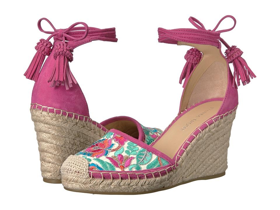 Ivanka Trump - Wadia3 (White Multi IP Raemon/FH Kid Suede) Women's Wedge Shoes