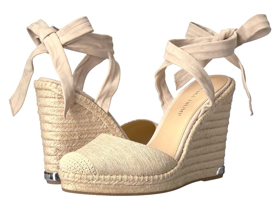 Ivanka Trump - Winikka2 (Medium Natural IP Seda Natural Lurex/FH Kid Suede) Women's Wedge Shoes