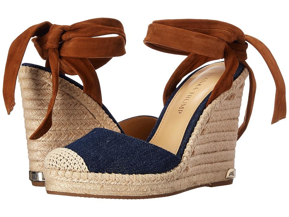 Ivanka Trump - Winikka3 (Medium Blue IP Jeans/FH Kid Suede) Women's Wedge Shoes