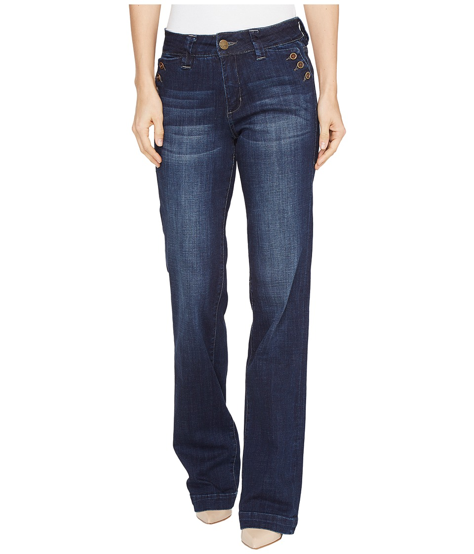 Jag Jeans - Farrah Wide Leg Crosshatch Denim Jeans in Night Breeze (Night Breeze) Women's Jeans