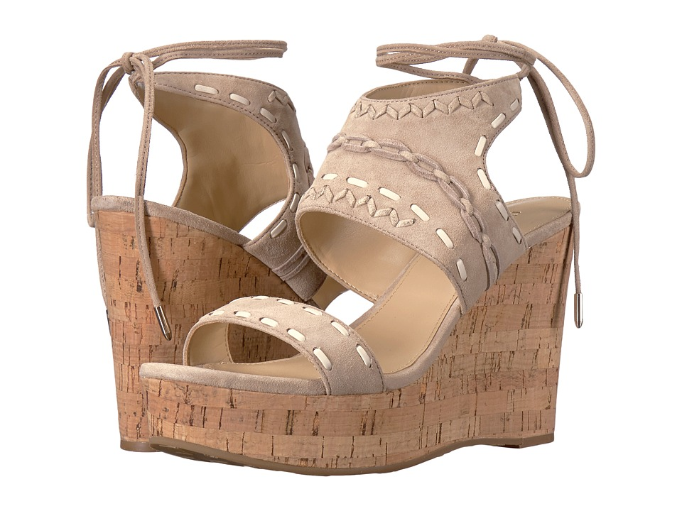 Ivanka Trump - Zader (Light Natural FH Kid Suede/Fez Nappa/Capria) Women's Wedge Shoes