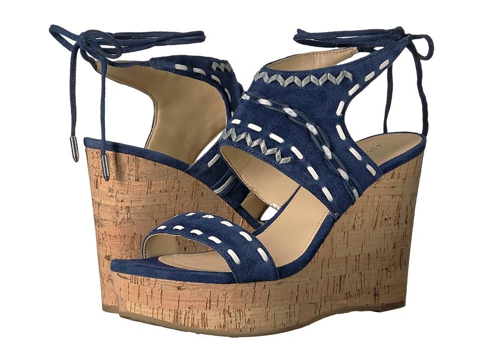 Ivanka Trump - Zader (Dark Blue FH Kid Suede/Fez Nappa/Capria) Women's Wedge Shoes