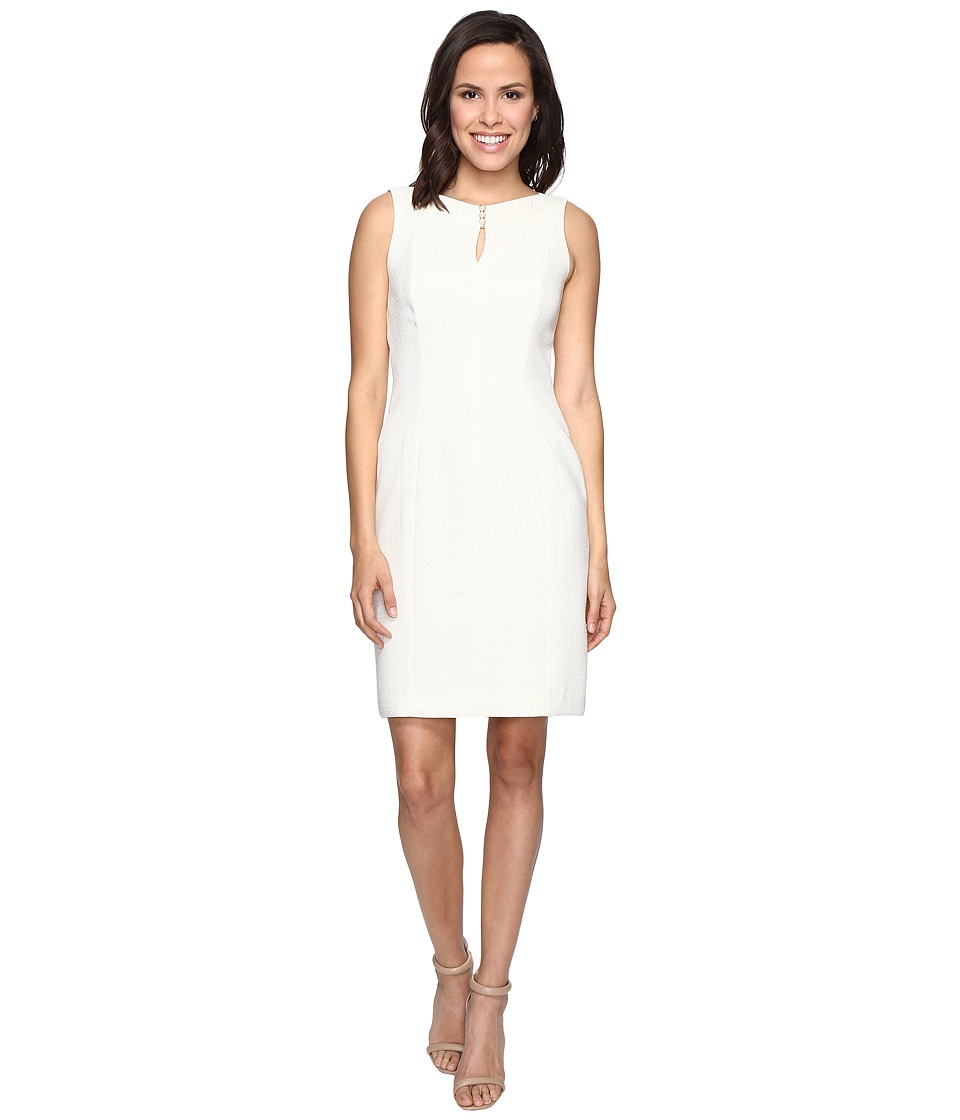 Tahari by ASL - Sparkle Boucle Sheath Dress (Ivory/Gold) Women's Dress