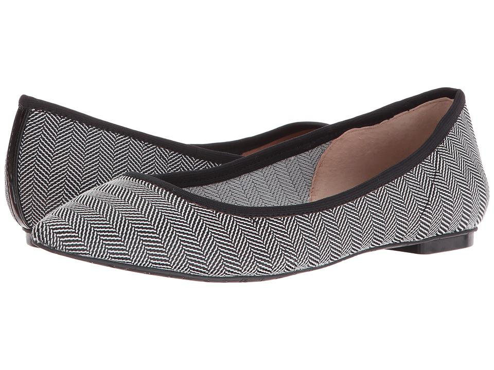 Tahari - Edie (Black/White Herringbone Elastic) Women's Shoes