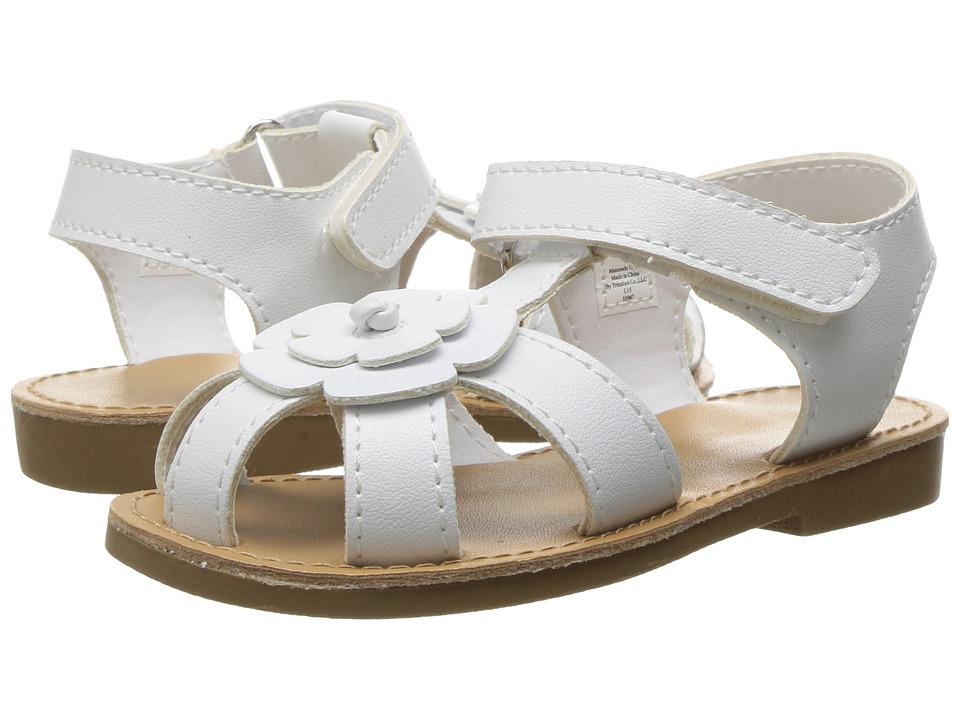 Baby Deer - Closed Toe Flower Sandal (Infant/Toddler) (White) Girls Shoes