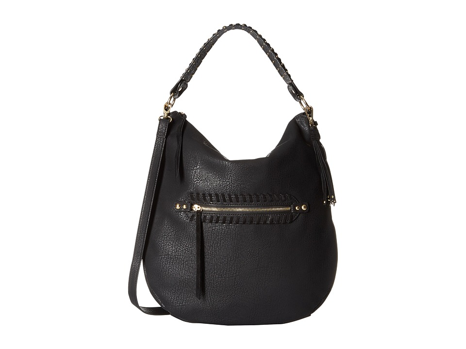 Jessica Simpson - Angie Top Zip Hobo (Black) Hobo Handbags