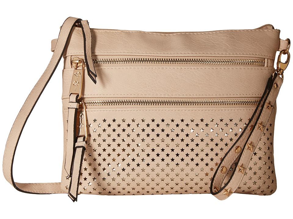 Jessica Simpson - Coline Top Zip Crossbody (Blush/Gold) Cross Body Handbags