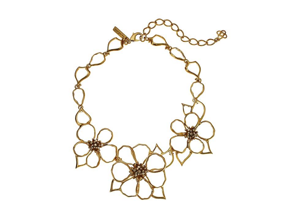 Oscar de la Renta - Flower Necklace (Gold) Necklace