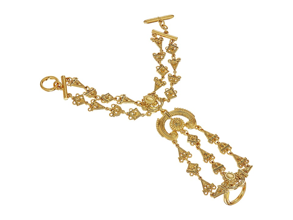 Oscar de la Renta - Ornate Charm Bracelet Ring (Gold) Ring