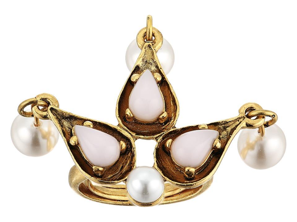 Oscar de la Renta - Cabochon Pearl Stone and Pearl Ring (Blossom) Ring