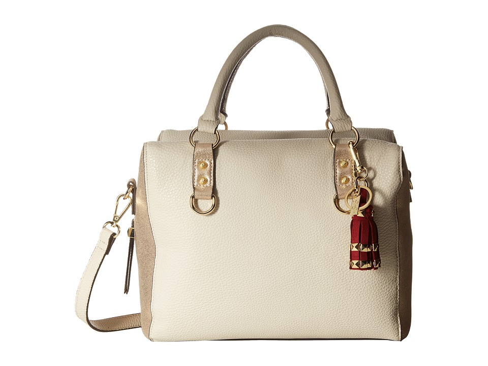 Jessica Simpson - Carina Crossbody Satchel (Bisque/Gold Glitter) Satchel Handbags