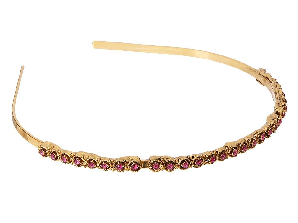 Oscar de la Renta - Round Crystal Headband (Cayenne) Headband