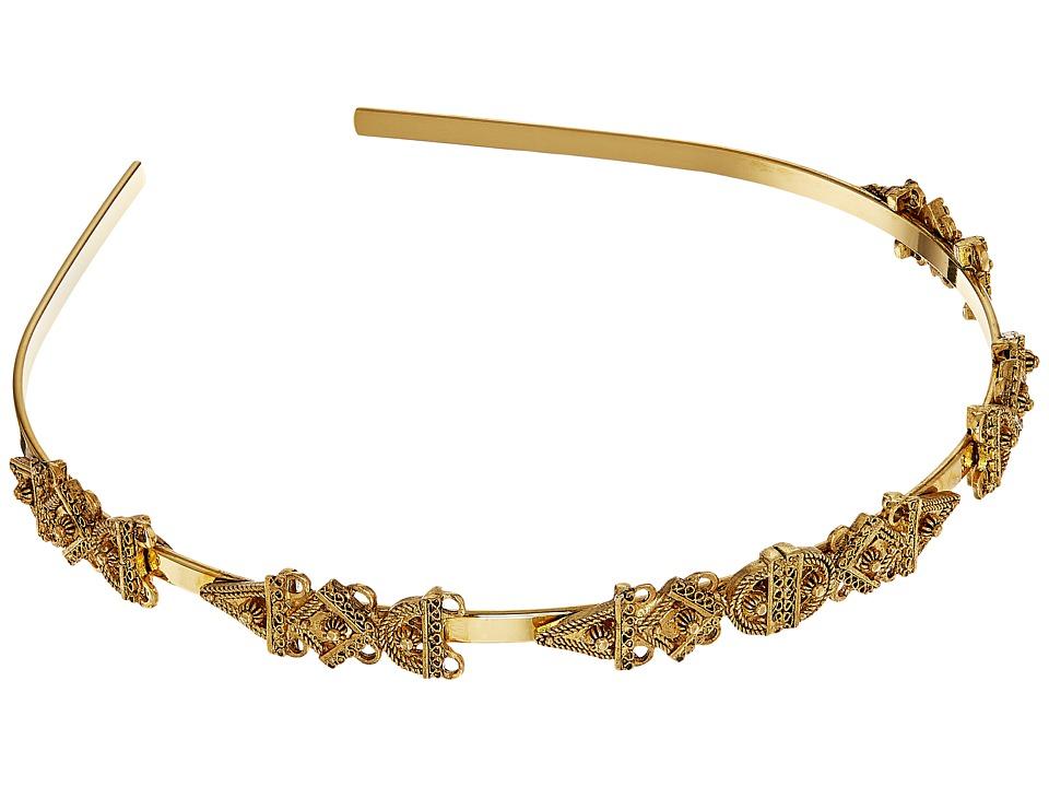 Oscar de la Renta - Orante Charm Headband (Gold) Headband