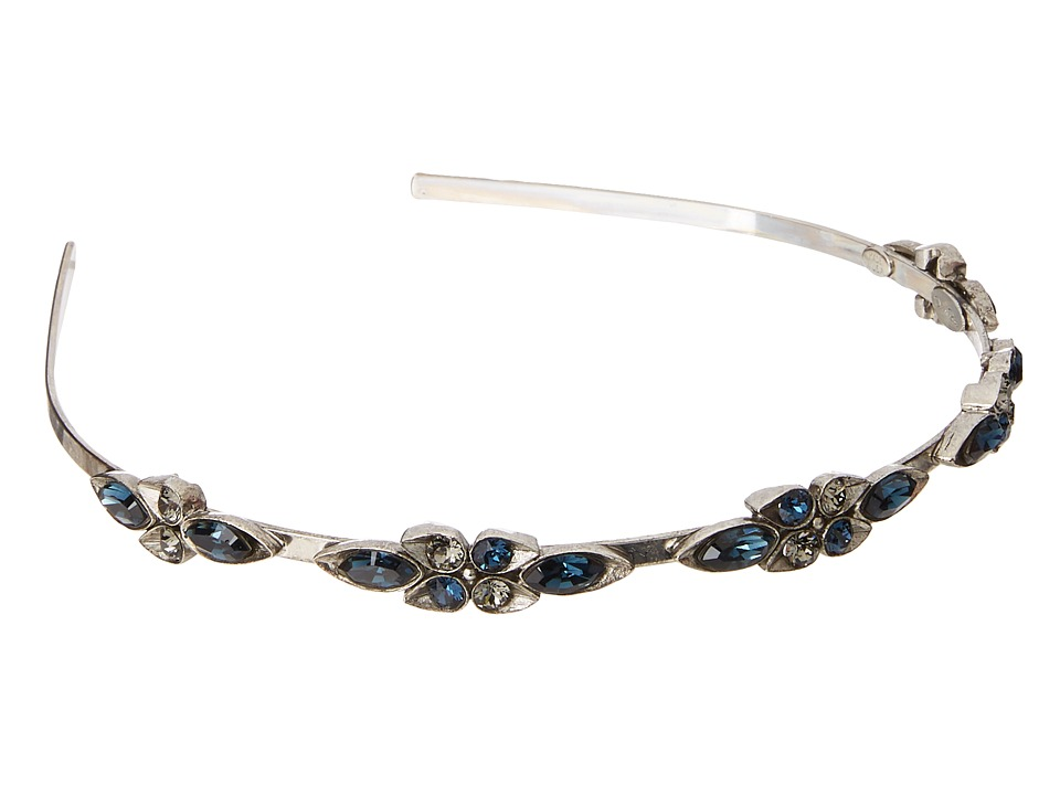 Oscar de la Renta - Teardrop Framed Crystal Headband (Black Diamond) Headband