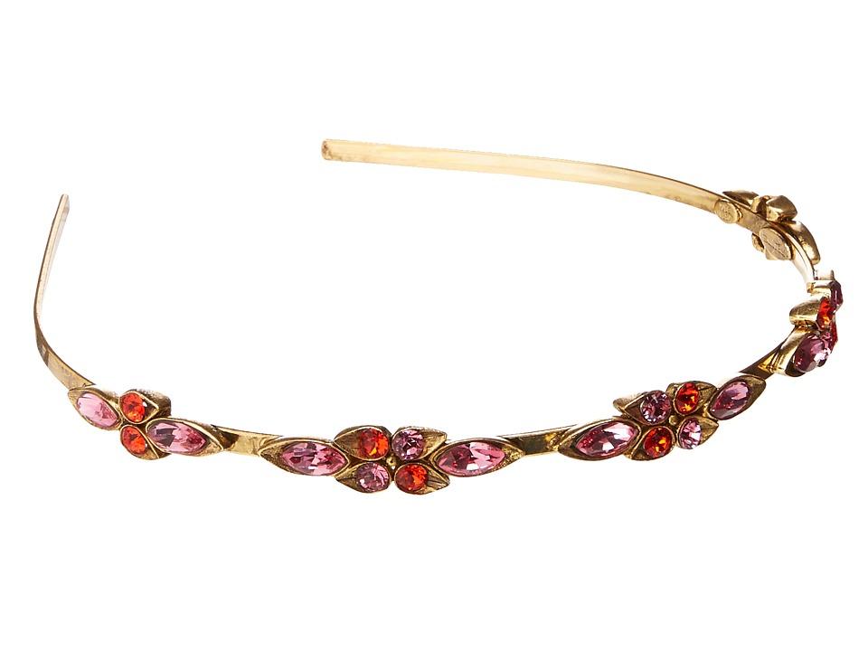 Oscar de la Renta - Teardrop Framed Crystal Headband (Magenta) Headband