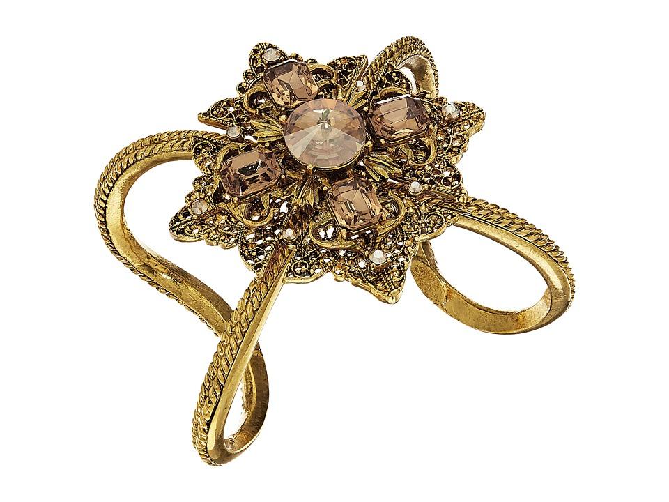 Oscar de la Renta - Crystal Filigree Bracelet (Topaz) Bracelet