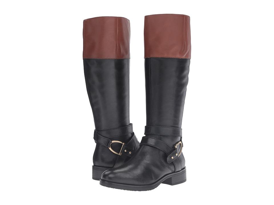 Bandolino - Tessi (Black/Cognac Leather) Women's Boots