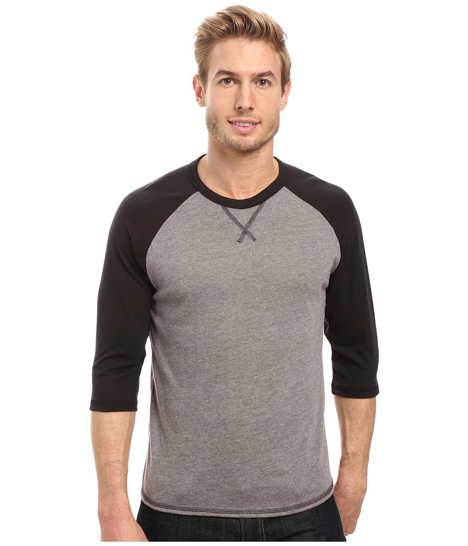 Alternative - Vintage 50/50 Dugout Tee (Vintage Coal/Black) Men's T Shirt
