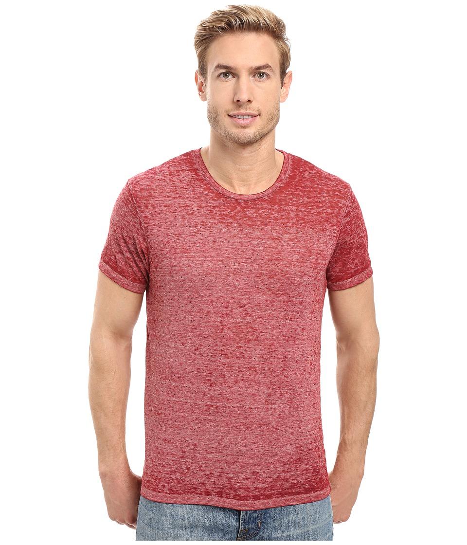 Alternative - Eco NEP Jersey Burnout Waterline Tee (Redwood Burnout) Men's T Shirt