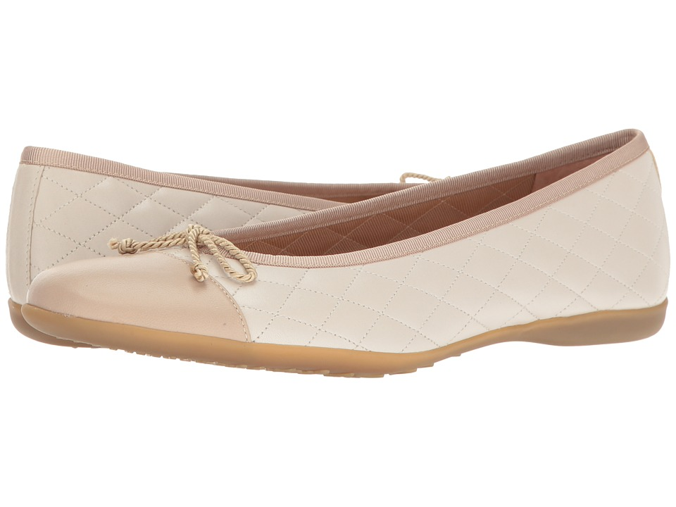 French Sole - PassportR (Ice/Light Taupe Nappa Leather) Women's Dress Flat Shoes