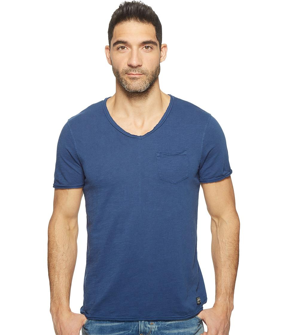Buffalo David Bitton - Kasim Short Sleeve V-Neck Slub Jersey T-Shirt (Indigo) Men's T Shirt