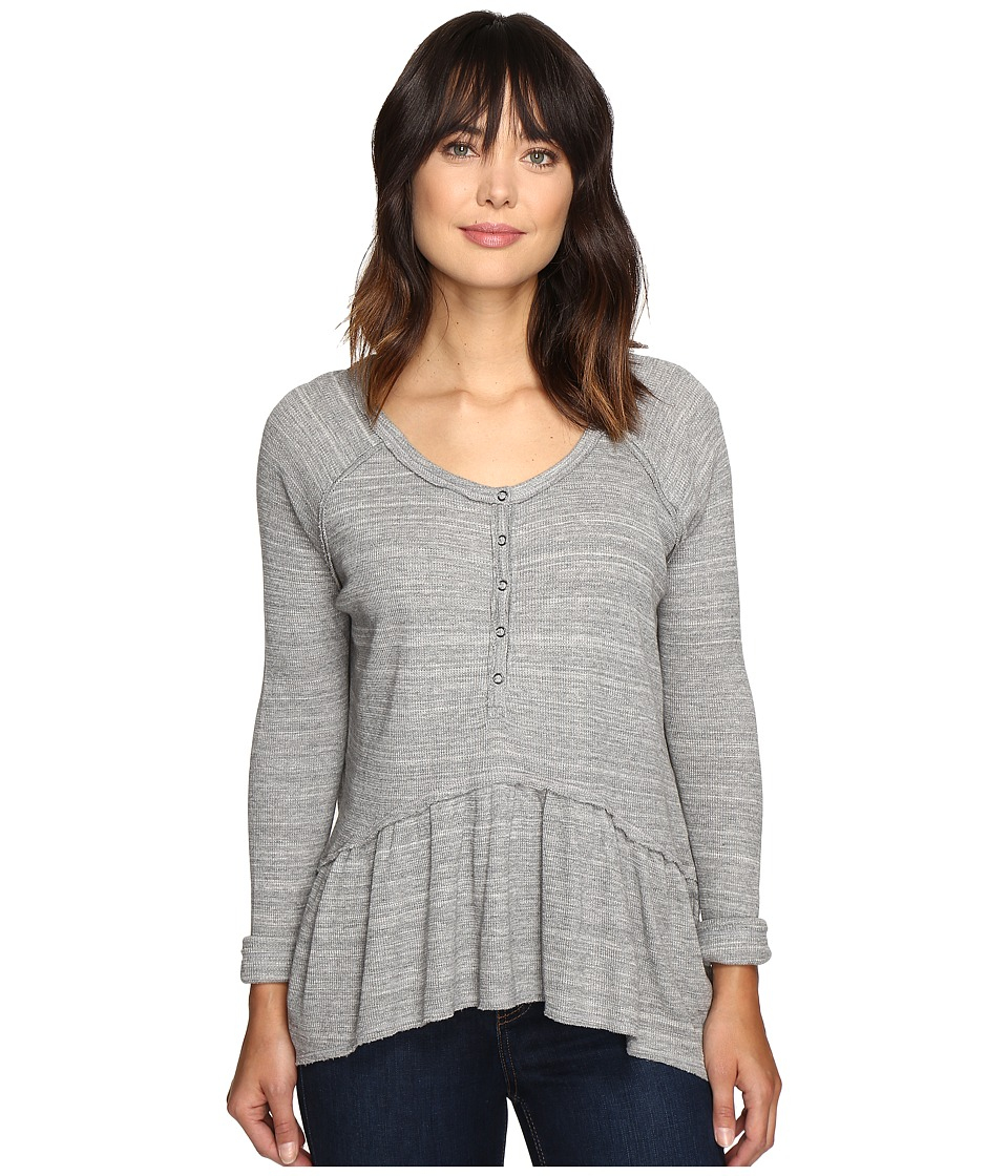 Free People - Coastline Tee (Grey) Women's T Shirt