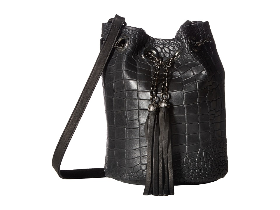 Leatherock - HJ95 (Black) Handbags