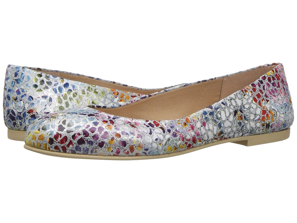 French Sole - Radar (White Mosaic Print Leather) Women's Shoes