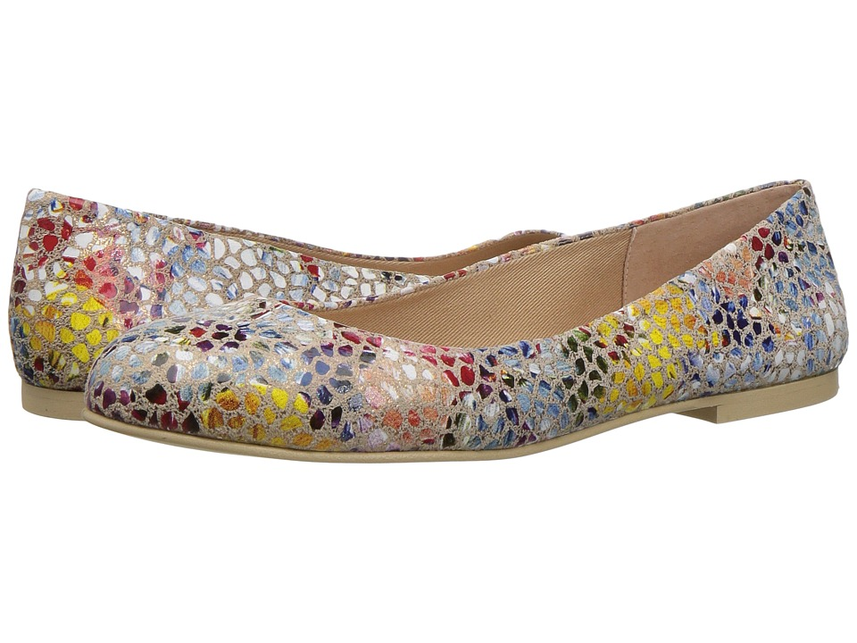French Sole - Radar (Navy Mosaic Print Leather) Women's Shoes