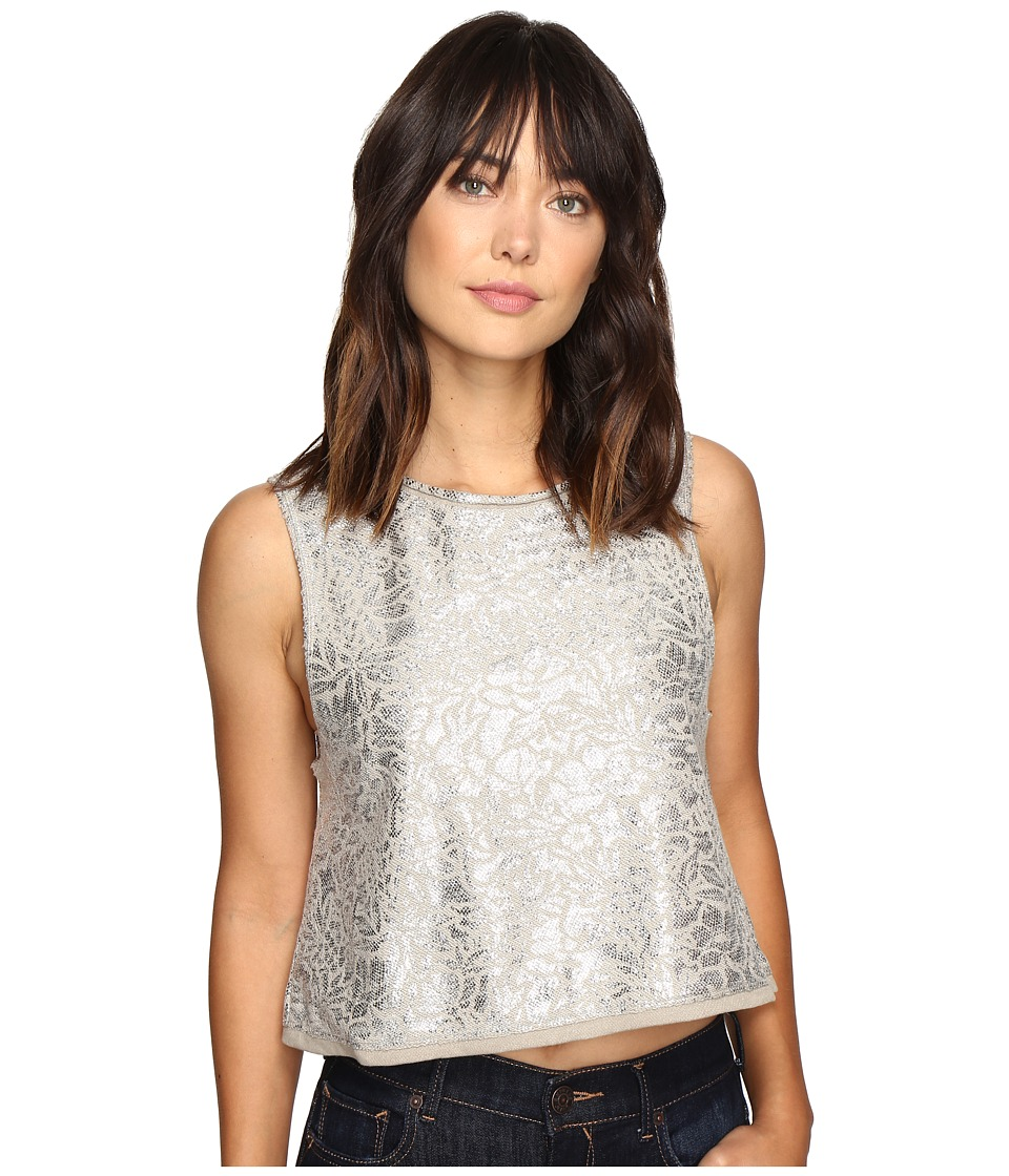 Free People - Casual Fancy Top (Taupe) Women's Sleeveless