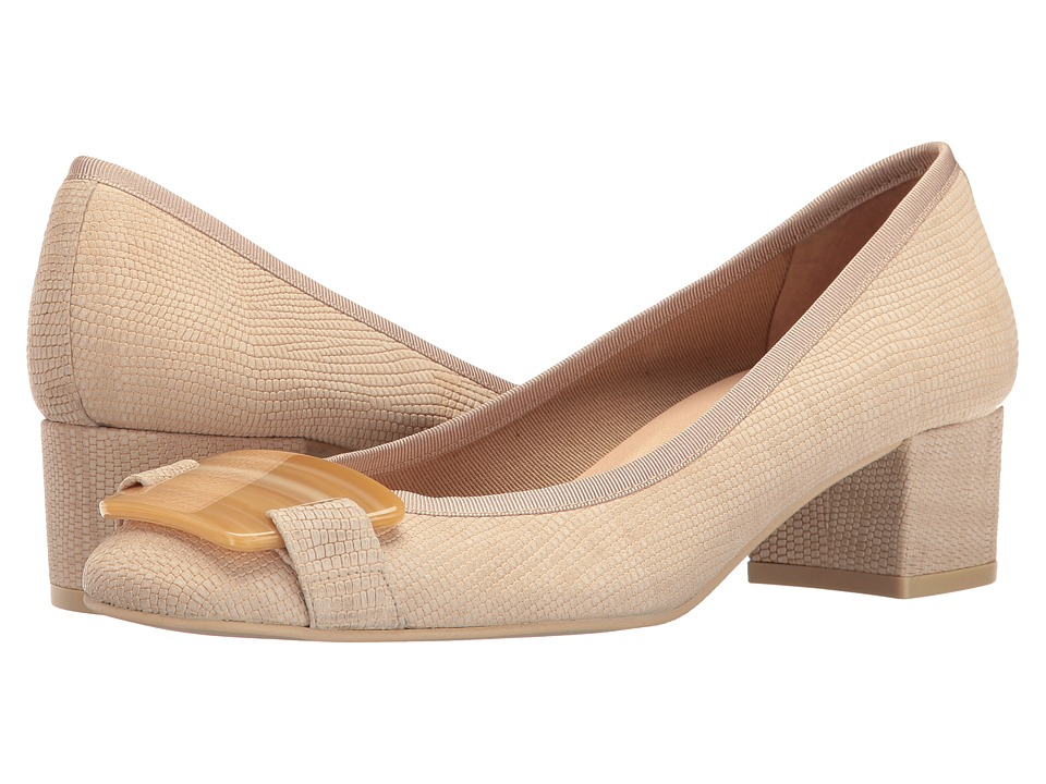 French Sole - Royal (Natural Ibiza Printed Leather) Women's Shoes